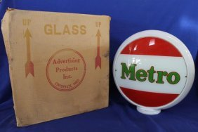 "Metro All Glass 17"" Gas Pump Globe"