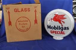Mobilgas Special NOS Gas Globe Glass Insert Org Box