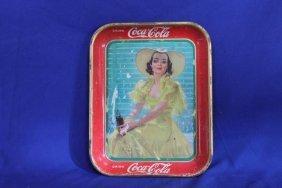 1938 Coke Coca-cola Tray American Art Works Inc. Made