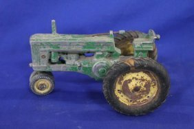 Vintage John Deere Toy Metal Tractor As Is