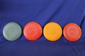 Lot Of 8 Wham-o Flying Saucer Frisbee W/ Plantets, Mold