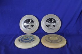 Lot Of 4 Frisbee Disc Wham-o Moonlighter C. 1975