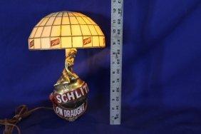 """Vintage Schlitz Lighted Beer Sconce """"on Draught"""" Works"""