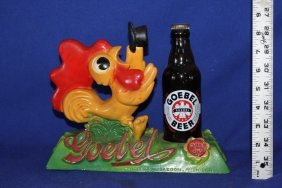 Goebel Beer Chicken 3-d Advertising Bottle Display