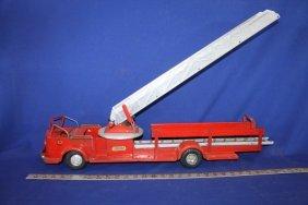 Model Toys Rossmoyne Pressed Steel Ladder Truck Toy
