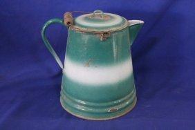Rare Enamel Coffee Pot - Rare Colors