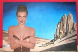 Original Maya Spielman Diamond Mine Oil on Canvas