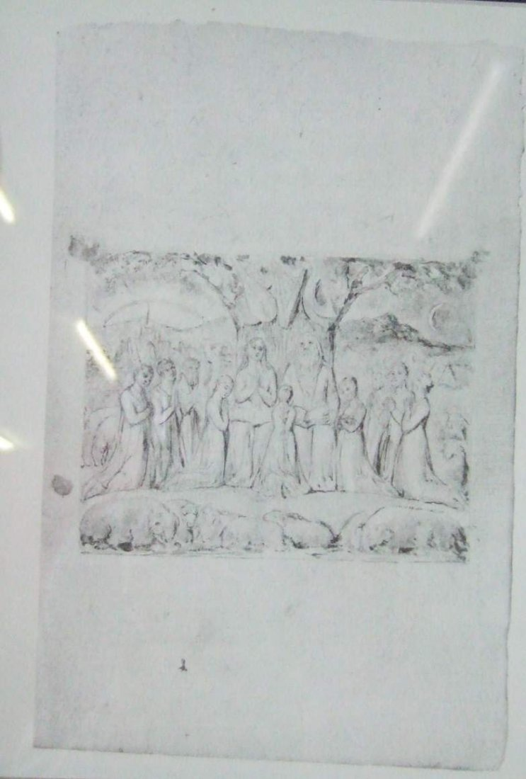 William Blake Job and His Family Limited Edition Print