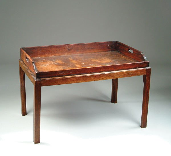 5: Chippendale Butler's Tray Table Mahogany