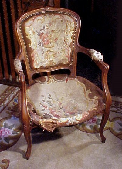 9: Boudoir Chair Carved French Design