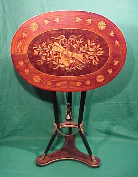 11: Aesthetic Movement Inlaid Tip Top Table