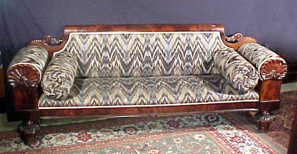 13: Empire Period Classical Carved Sofa American