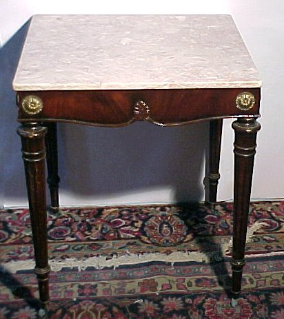 15: Pair Classical Design Marble Top Tables