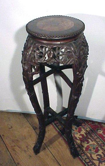 16: 19th Century Oriental Marble Top Pedestal