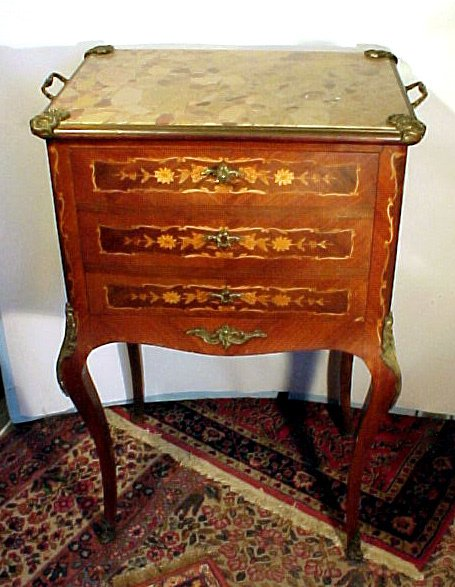 20: Inlaid French Liquor Cabinet Outstanding