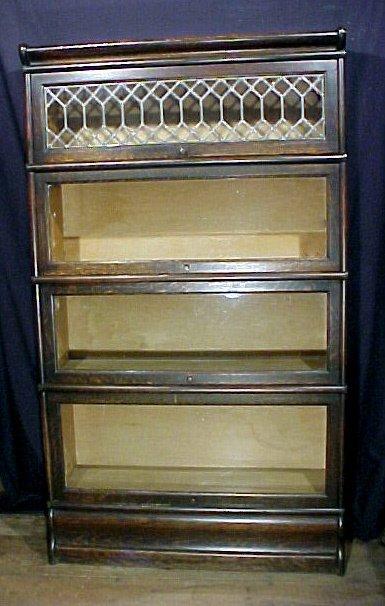 21: Lawyers Oak Arts & Crafts 4 Stack Bookcase