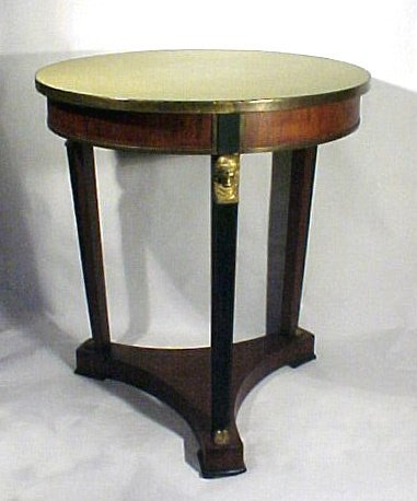 24: Classical Center Table with Bronze Dore Mounts