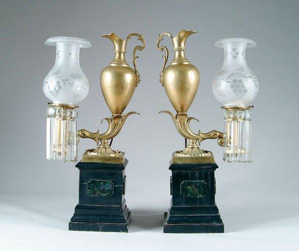 48: Rare 19th Century Argand Lamps PAIR
