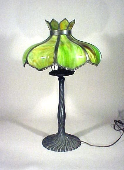 1014: Panel Lamp  Mosaic Shade Co. Chicago