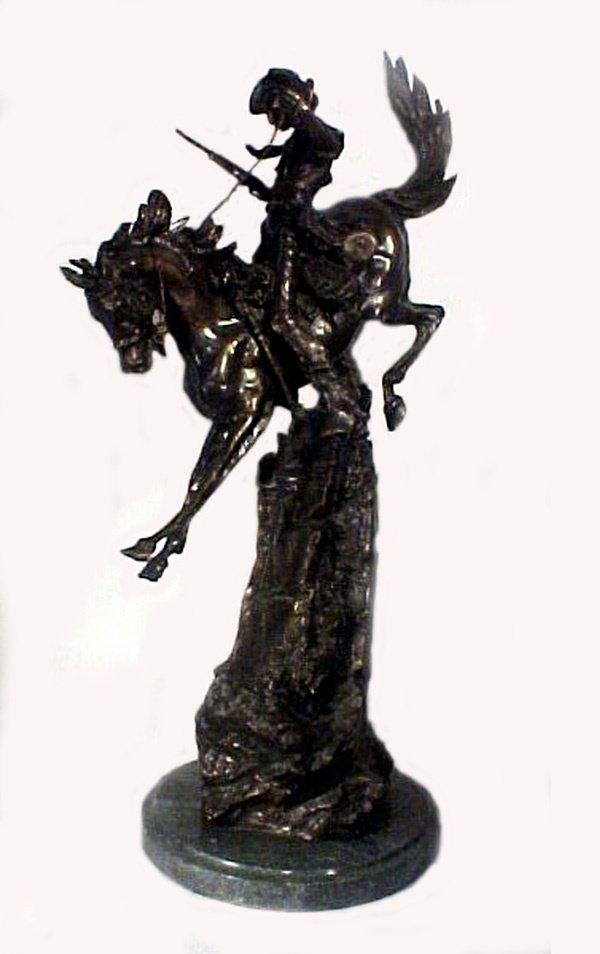 1020: Antique Western Bronze Sculpture