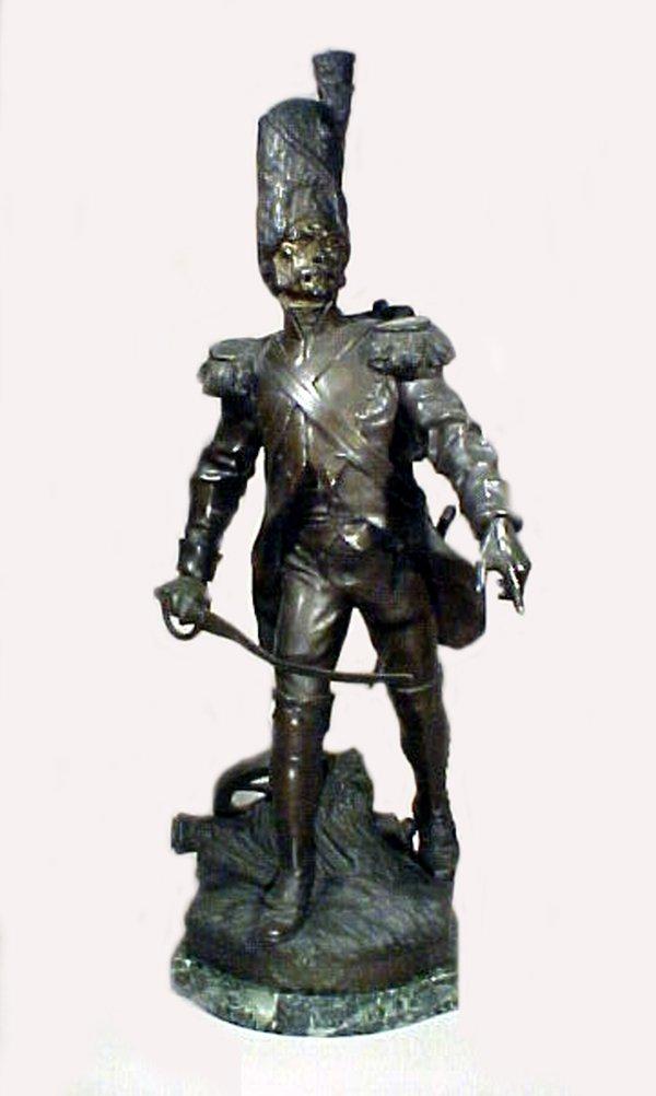 1022: The Grenadier 19th Century Bronze Sculpture
