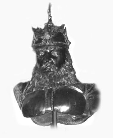 1023: Powerful Large  Bronze Bust of a Viking