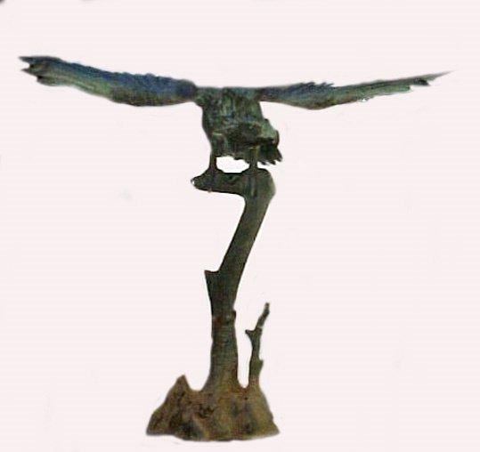1024: Antique Japanese Eagle Garden Sculpture