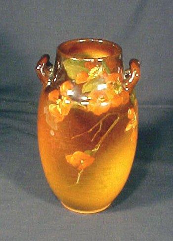 1076: Fine Rookwood Pottery Vase Florals
