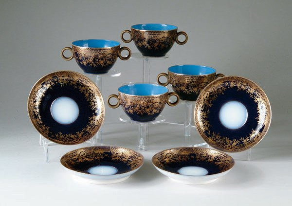 2005: 4 Limoges Antique porcelain Bullion c & s