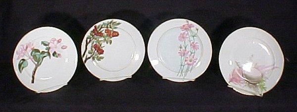2006: 4 Hand Painted Limoges Porcelain  Plates
