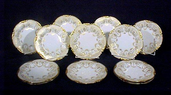 2009: Antique Limoges Plates Gold Enamel Ford