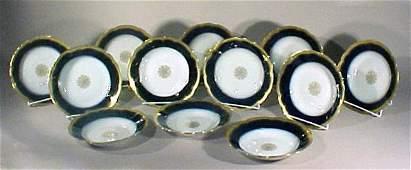 2010: Antique Porcelain Limoges Bowls J Pouyat Gilt
