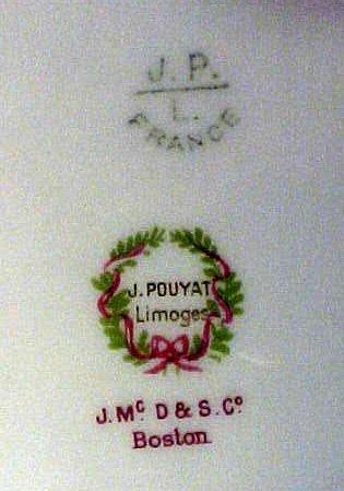 2010: Antique Porcelain Limoges Bowls J Pouyat Gilt - 7