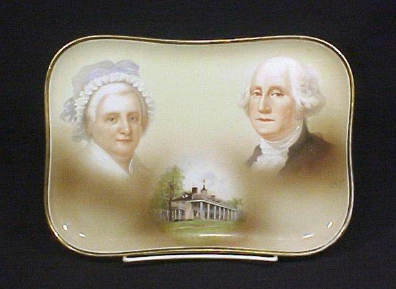 2014: Antique Limoges PorcelainTray Washington
