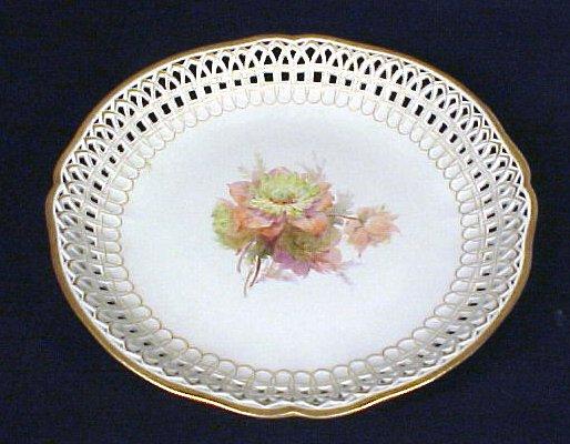2018: KPM Porcelain Compote Bowl Flowers Antique