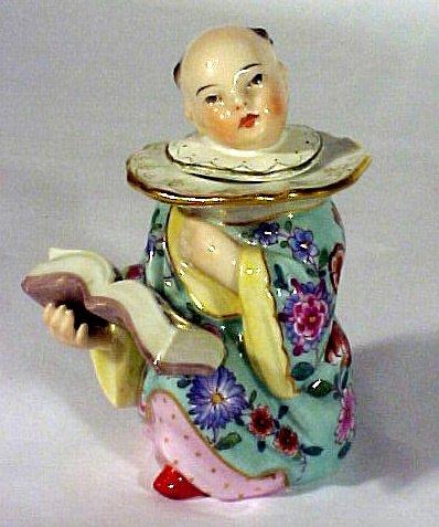 2023: KPM Porcelain Inkwell Orient Figural  Antique