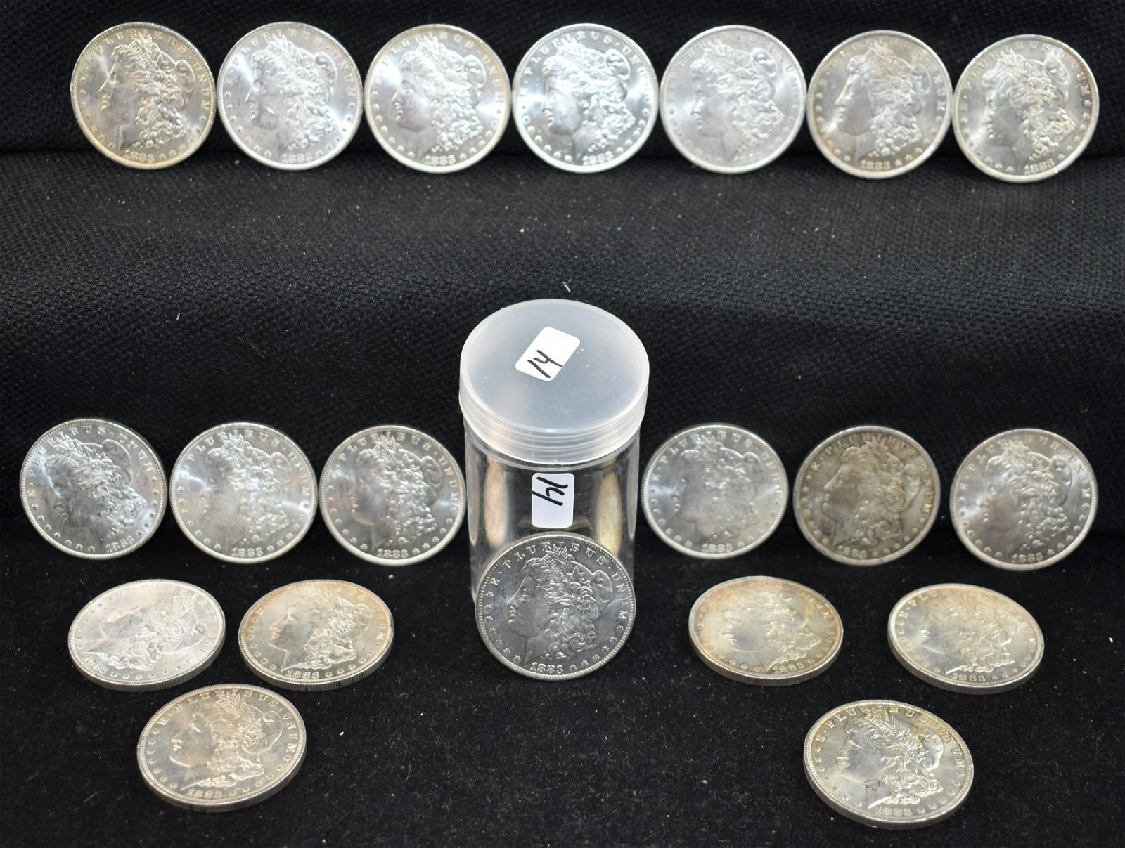 20 BU 1883-0 MORGAN DOLLARS FROM SAFE DEPOSIT