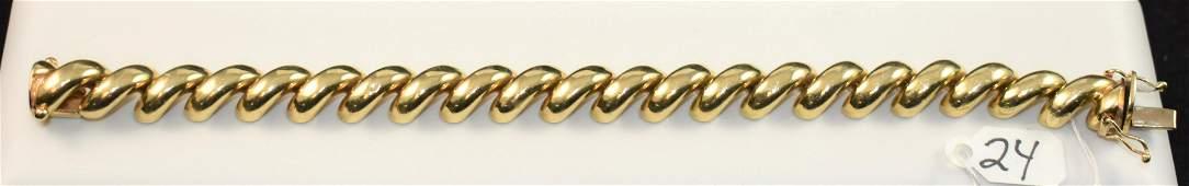 BEAUTIFUL SAN MARCO LINK 14K YELLOW GOLD BRACELET