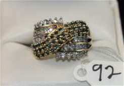 LADIES 213CTTW FANCY BLUE  WHITE DIAMOND RING