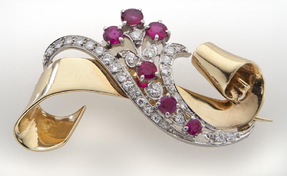 Van Cleef & Arpels 14K gold, diamond and ruby
