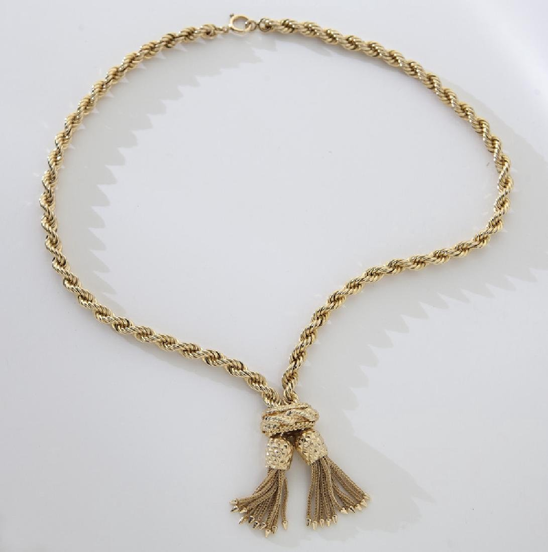 Hammerman Brothers 14K gold rope chain necklace