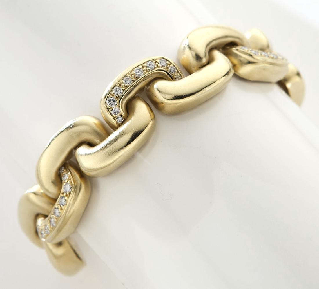 Marlene Stowe 18K yellow gold and diamond link