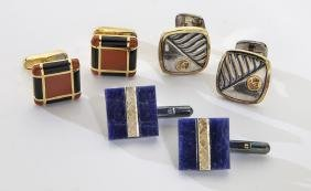 3 Pairs of cufflinks, including:
