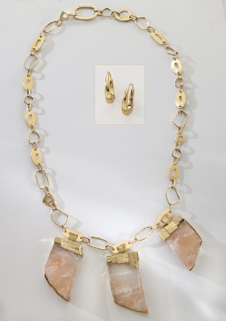 2 Pcs. Mattioli 18K gold jewelry, including: