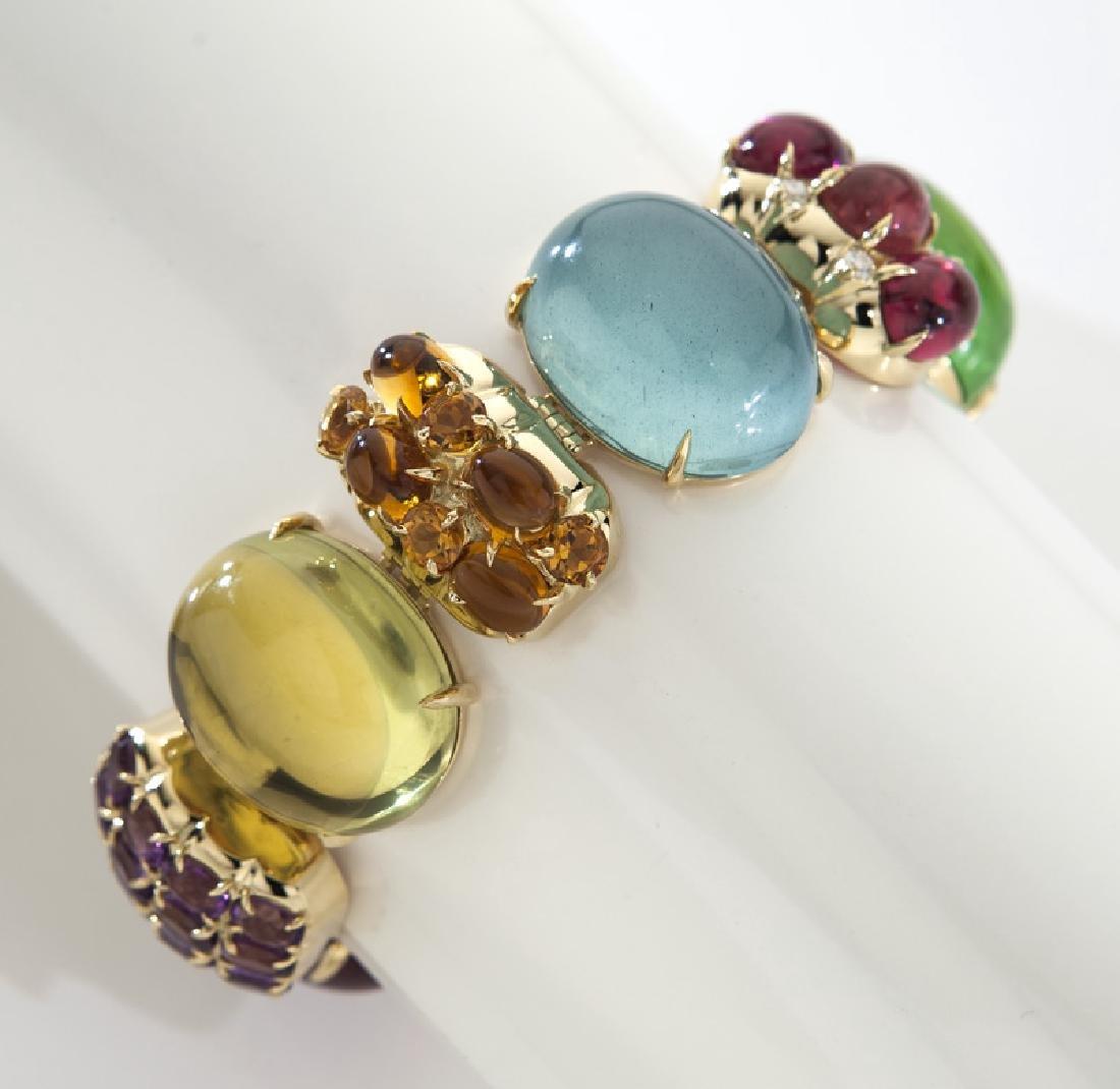 Seaman Schepps 18K multi-stone Rio bracelet