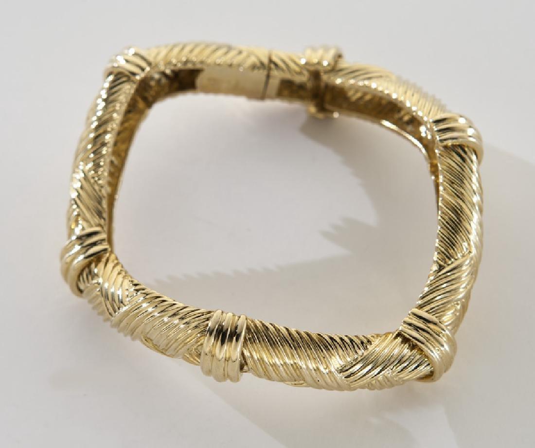 David Webb 18K gold bracelet.