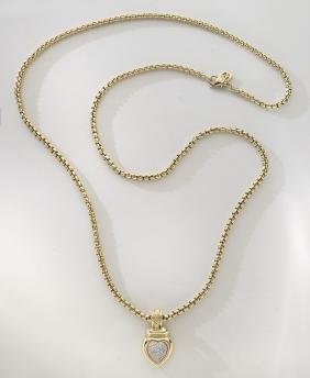 David Yurman 18K gold and diamond necklace,