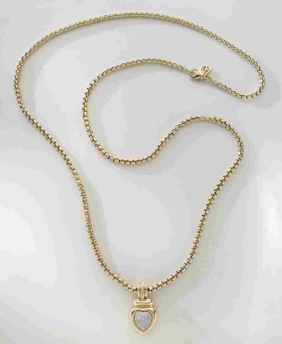 David Yurman 18K gold and diamond necklace,
