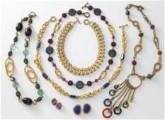 7 Pcs. Stephen Dweck semi-precious jewelry.
