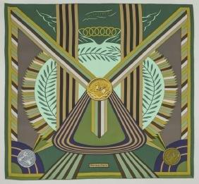 "Hermes ""Les Jeux d'Hermes"" silk scarf"